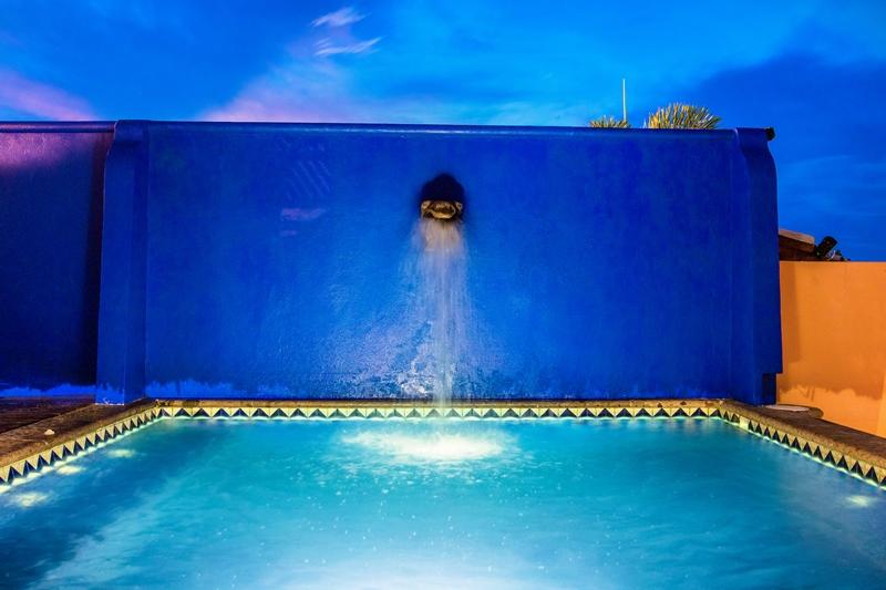 pool close up at night